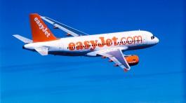 avião easyjet A319 durante um voo