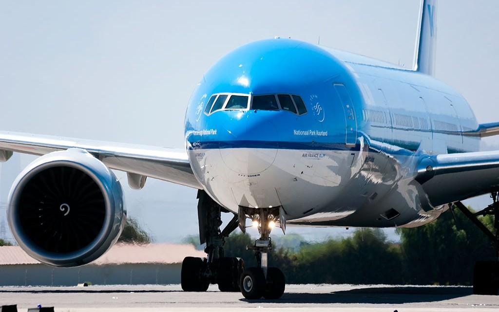 avião klm no chile