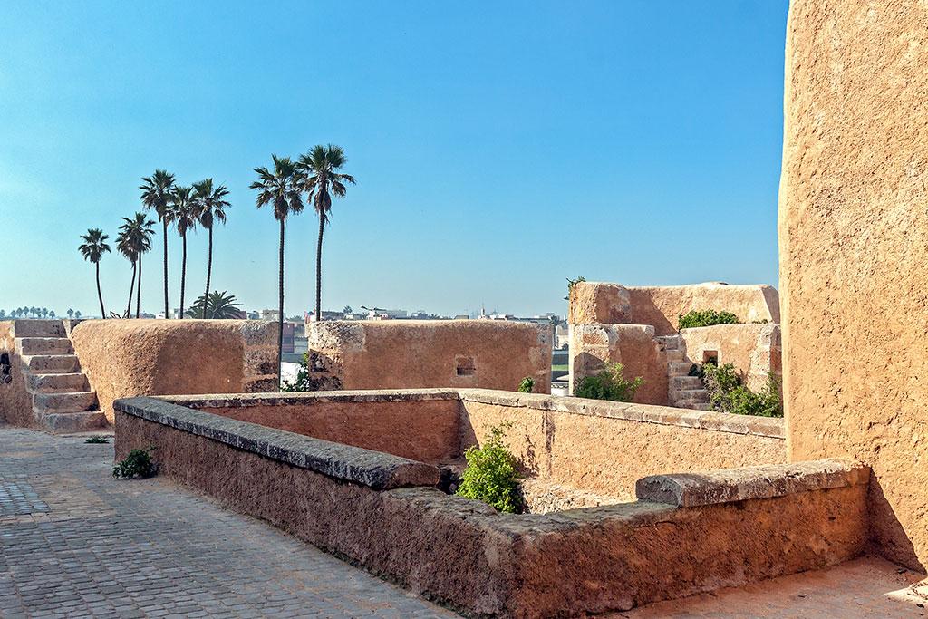 norte da fortaleza de mazagão e palmeiras