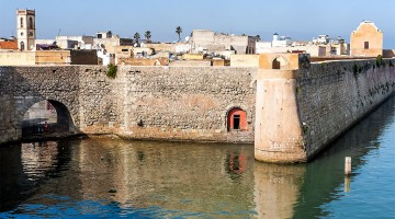 porta do mar e porta da ribeira na cidadela de mazagão