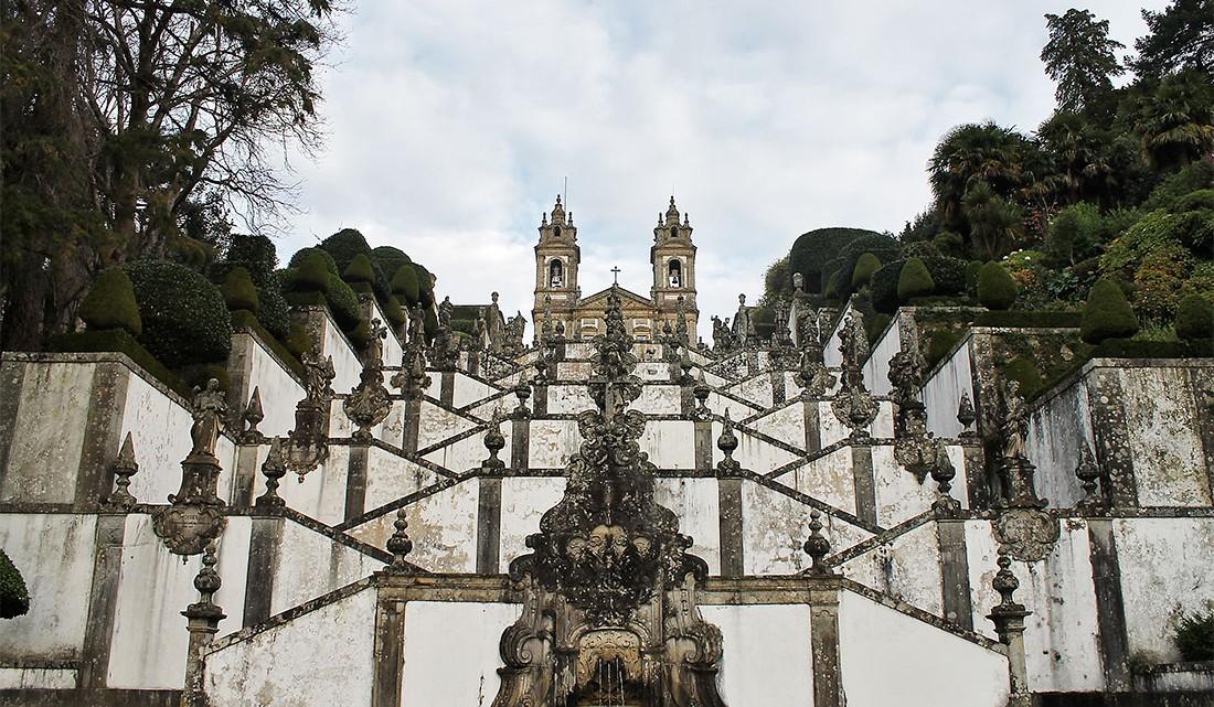 Escadaria do bom Jesus do monte em Braga