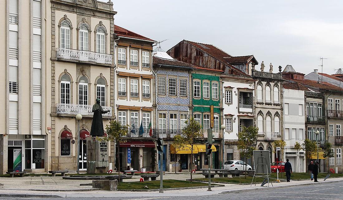Centro histórico da cidade de Braga, em Portugal