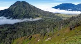 Paisagem do parque nacional Kawah Ijen