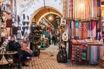 Souk em Marraquexe
