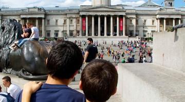 Familia com crianças em Londres