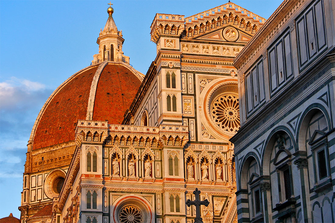 Duomo e Baptistério em Florença