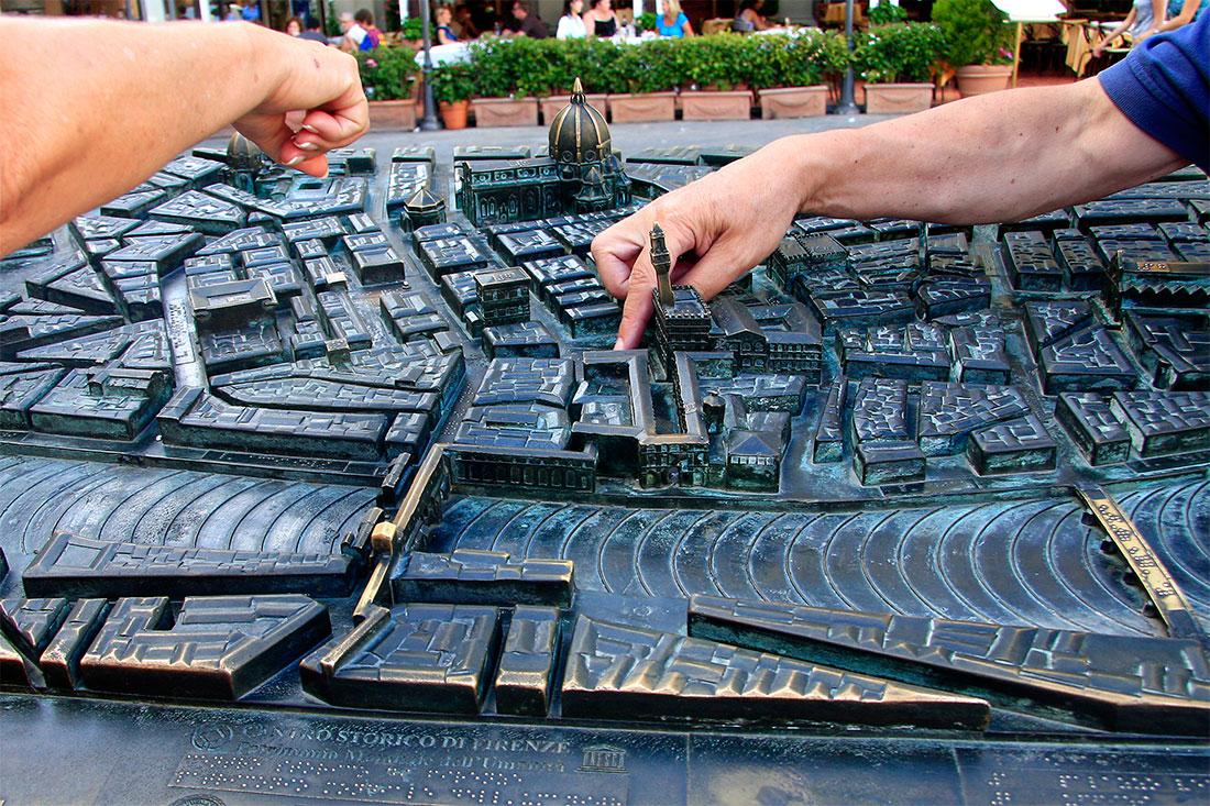 Maquete do centro histórico de Florença