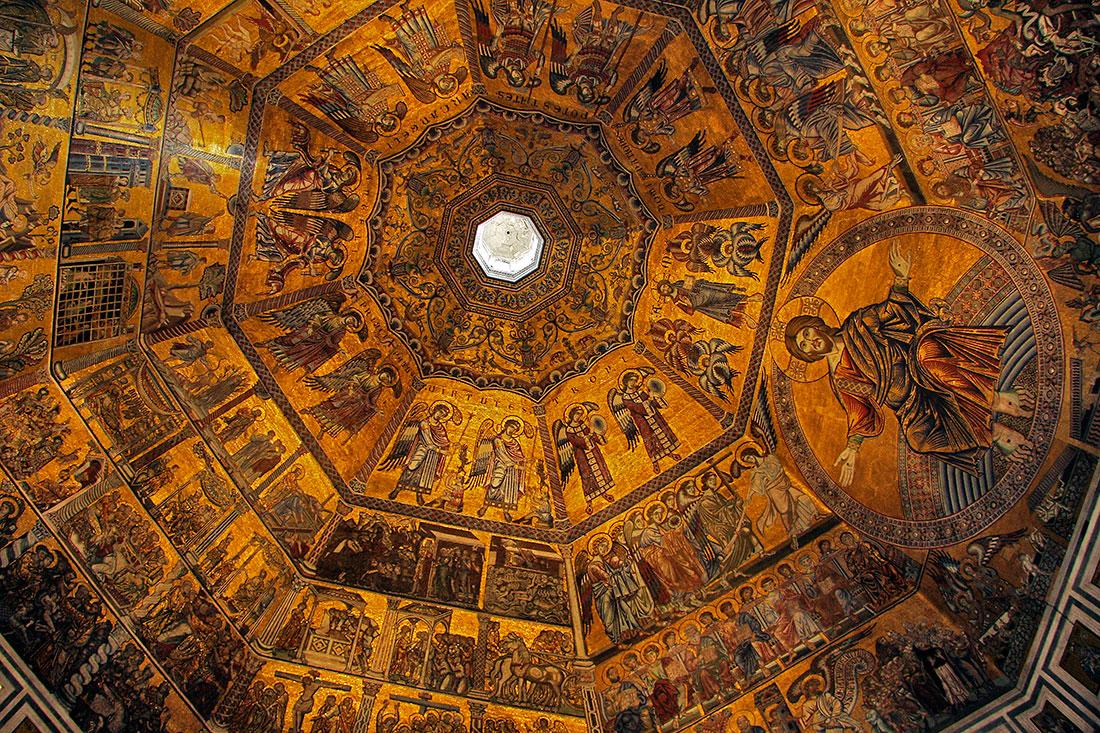 Tecto do Baptisterio em Florença