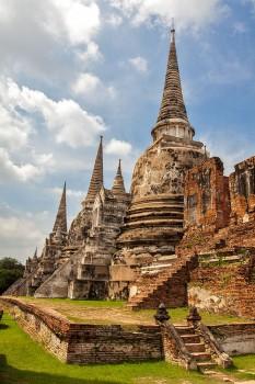 ruinas do antigo palácio real de Ayutthaya
