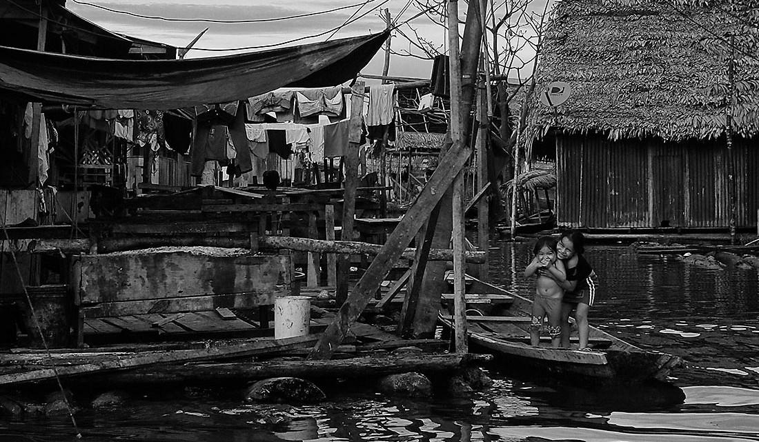 casas do bairro de bélen em Iquitos