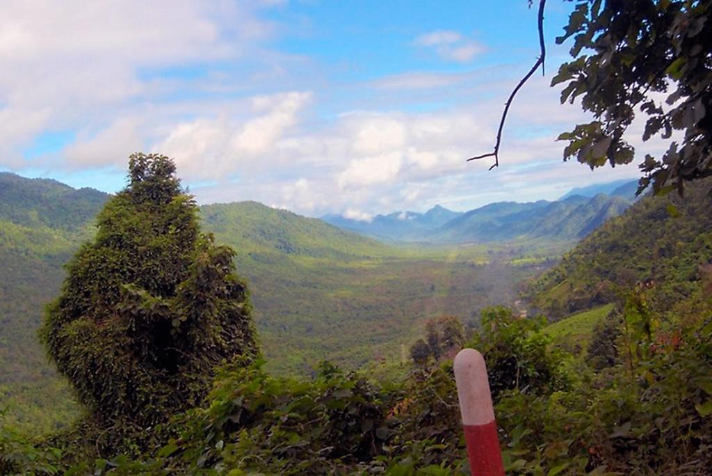 Montanhas entre kalaw e meiktila