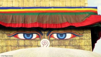 Olhos de Budha em Boudhanat, Kathmandu