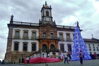 museu da inconfidência e árvore de natal em Ouro Preto