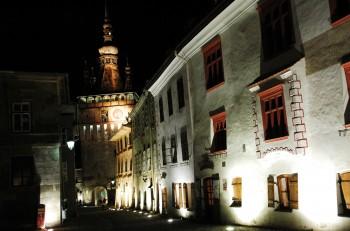 Sighisoara à noite, Roménia