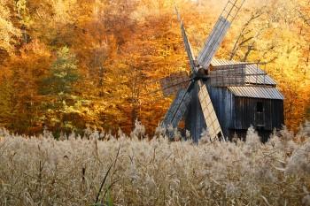 moinho de vento no museu ASTRA, Transilvânia
