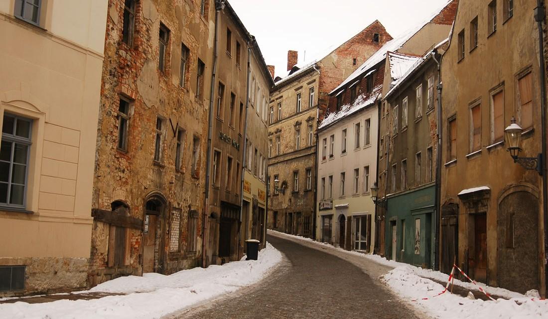 rua central da cidade de Ziitau
