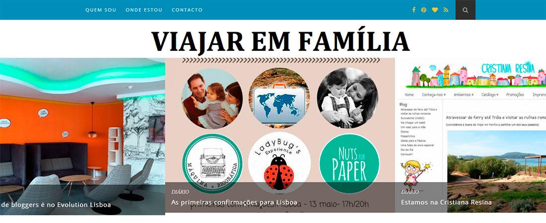 blog Viajar em Família