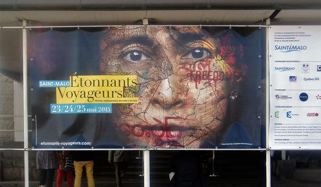cartaz oficial do festival Étonnants Voyageurs