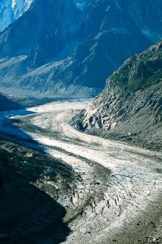 neves perpétuas do glaciar Mer de Glace