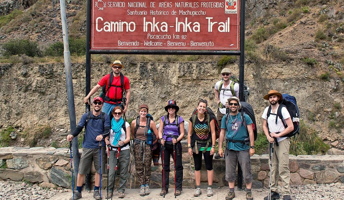 inicio do Caminho Inca nas imediações de Piscacucho