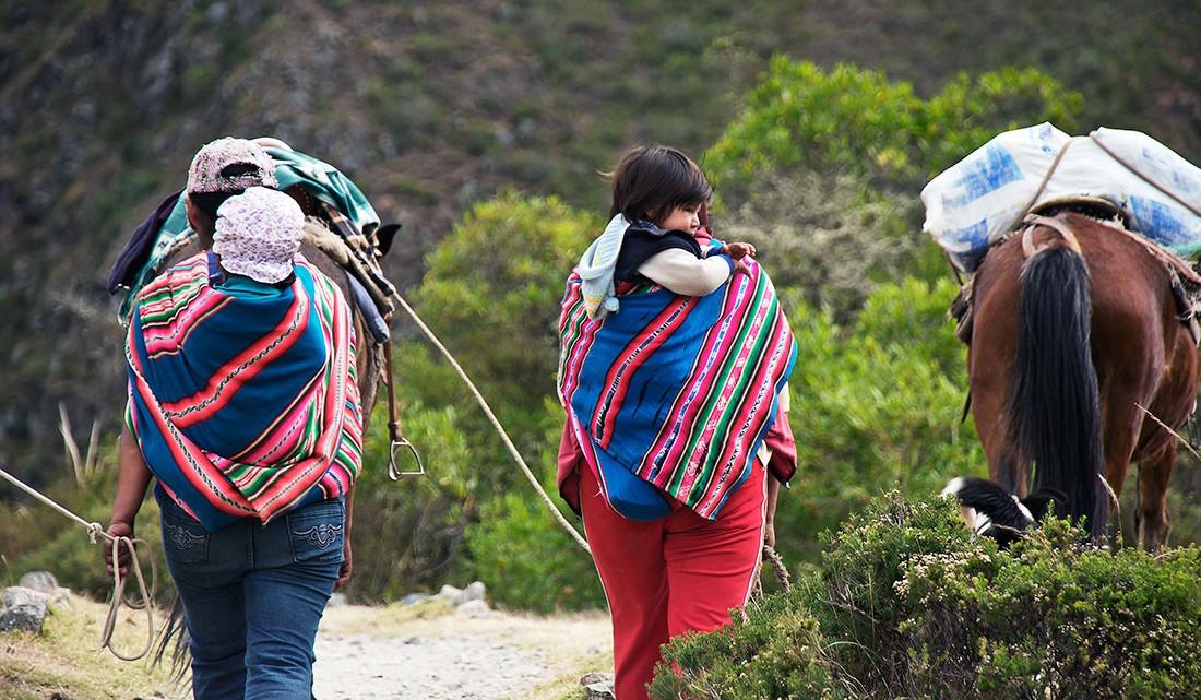 população quechua na primeira parte do caminho inca