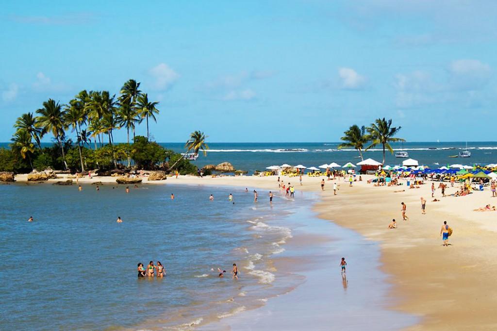 segunda praia no morro de são paulo, brasil