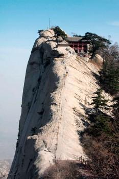 Face escarpada na subida ao pico oeste