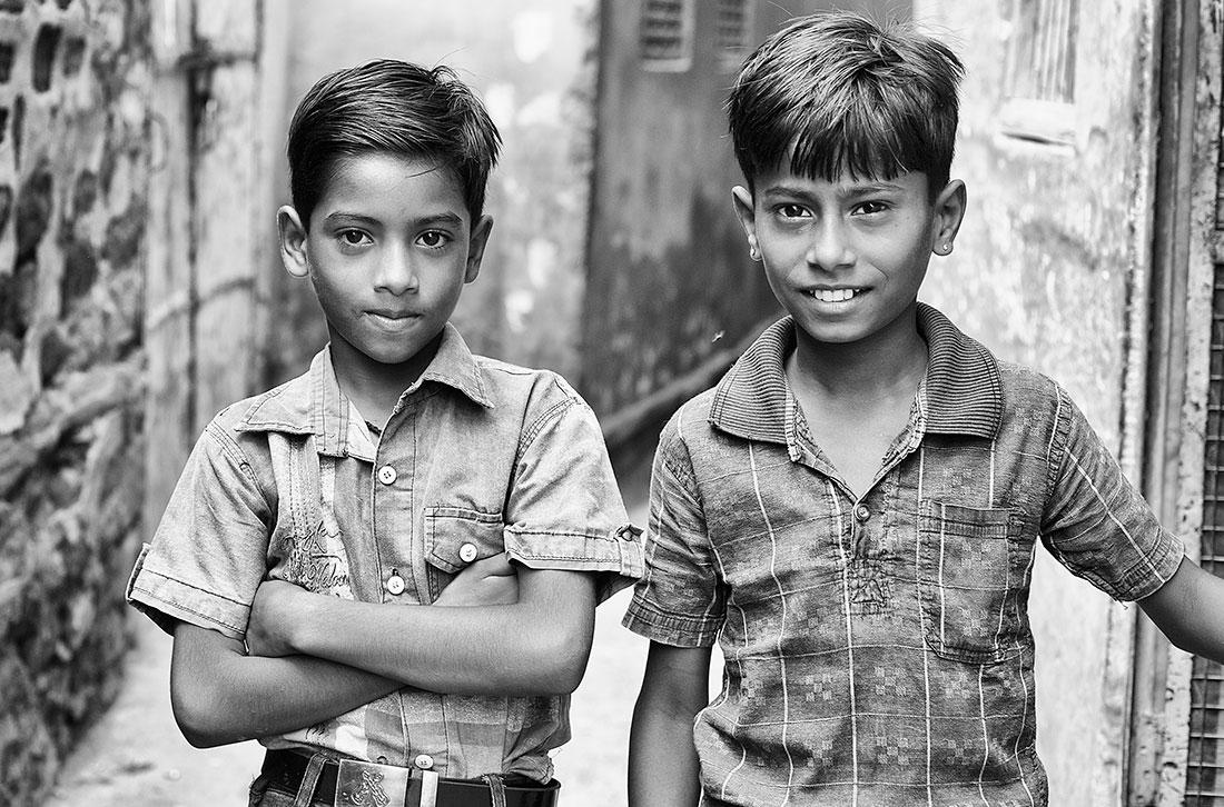 dois amigos nas ruas de jodphur