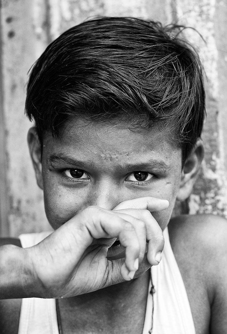 olhar de criança indiana