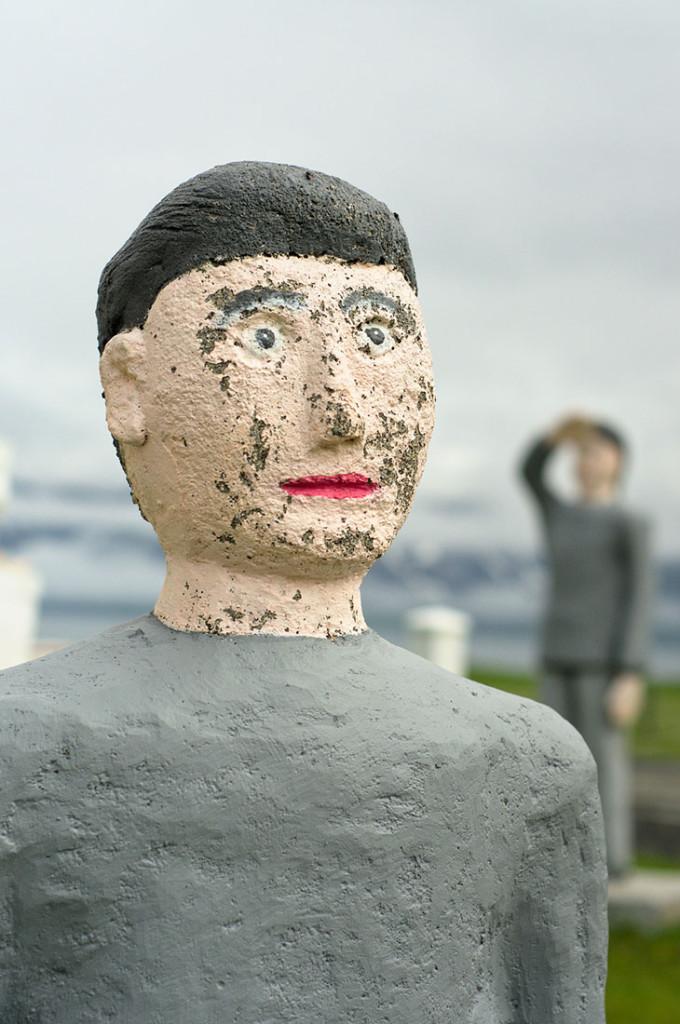 escultura Leifur Eiriksson construída por Samúel Jónsson em Selárdalur
