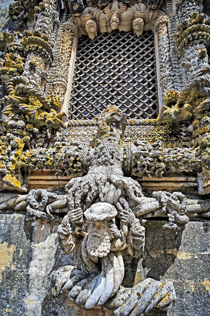 janela manuelina do Convento de Cristo em Tomar