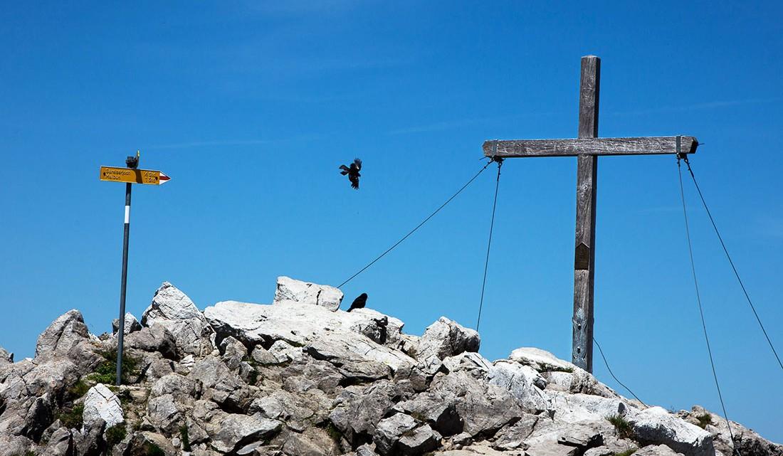 simbolos e direcções em trekking de altitude no lietchenstein