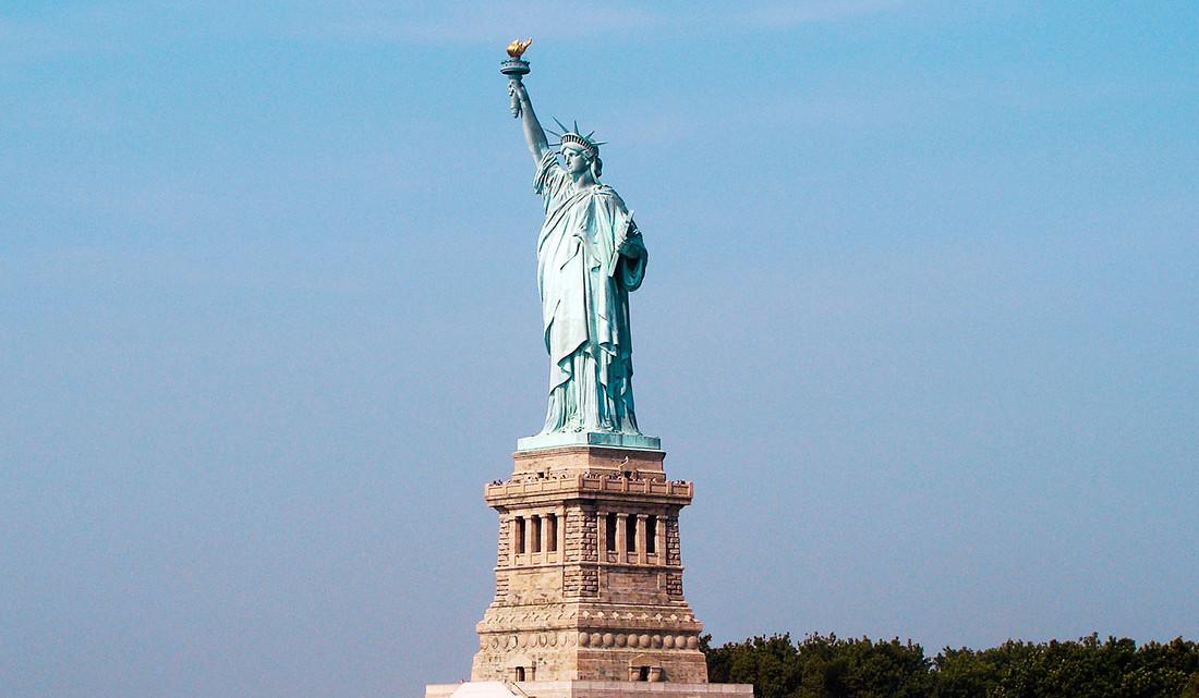Estátua da liberdade em Liberty Island em Nova Iorque.
