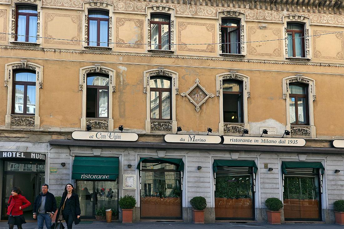 Fachada no hotel nuovo na Praça Cesare Beccaria em Milão