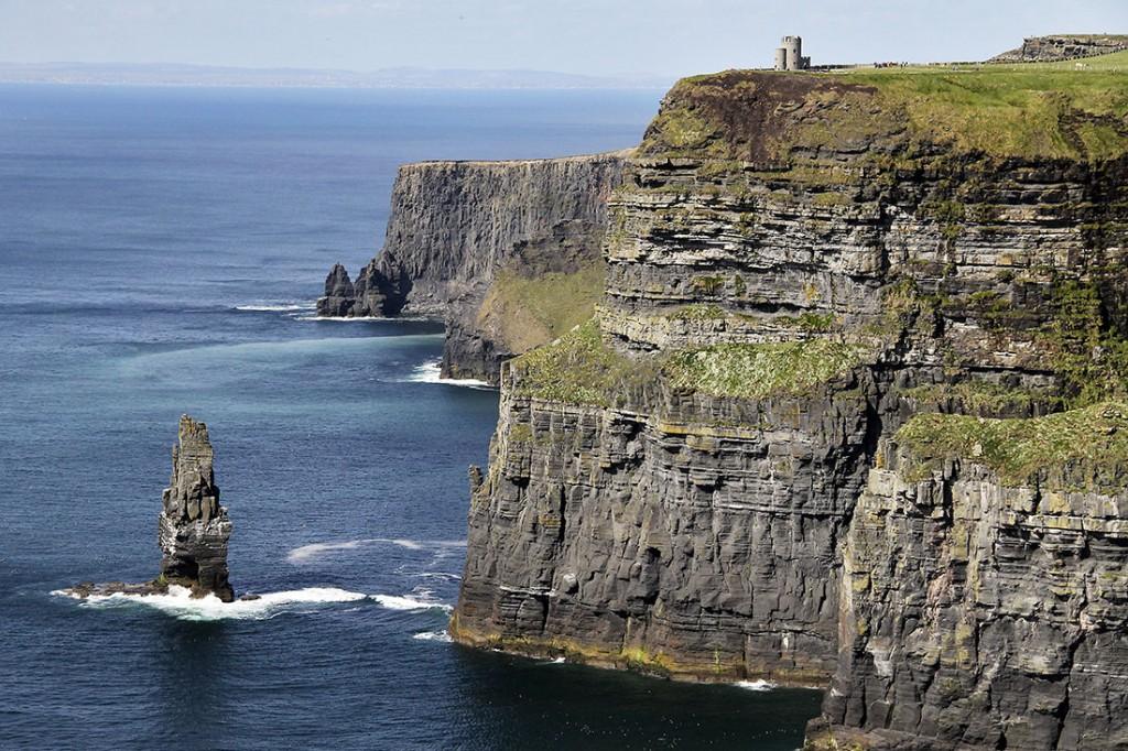 Paisagem dos Cliffs of Moher na Irlanda.