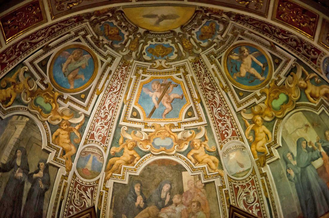 Frescos na Igreja de Santo Agostinho em Roma.