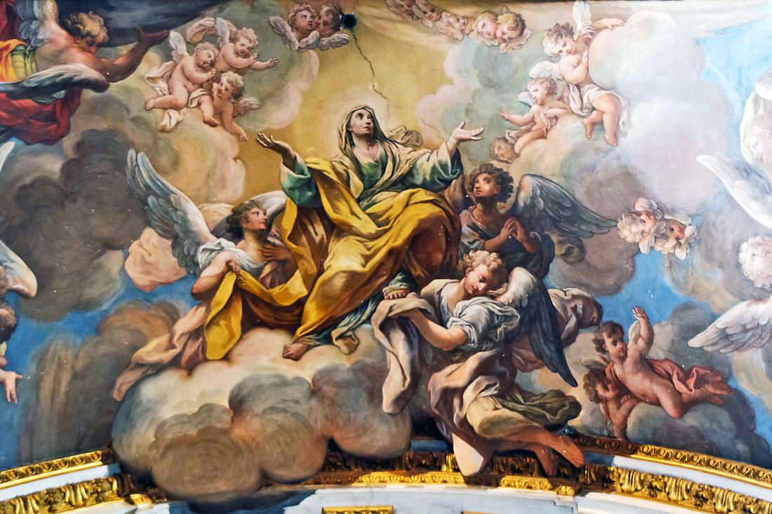 Frescos na Igreja de São Paulo na Regra, em Roma.