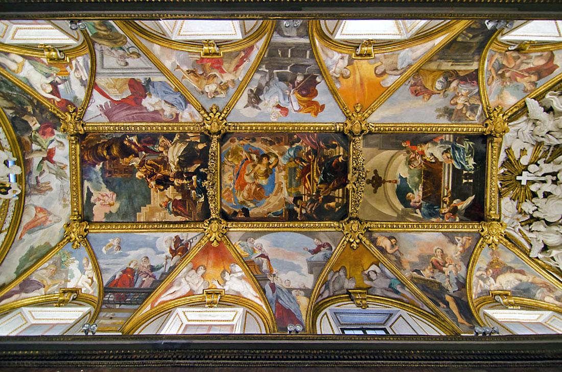 Tecto da Igreja de Santa Maria in Trivio, Roma.