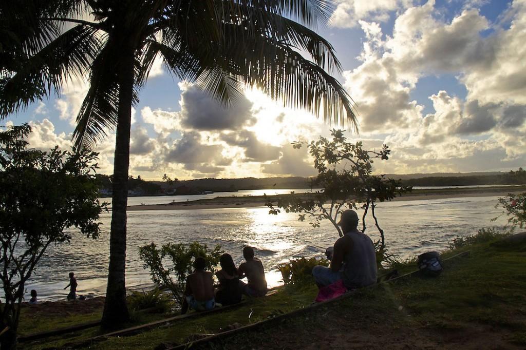 Pôr-do-sol em Itacaré, Bahia, Brasil.