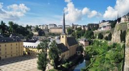 Envolvente da Abadia de Lucilinburhuc na cidade do Luxemburgo.
