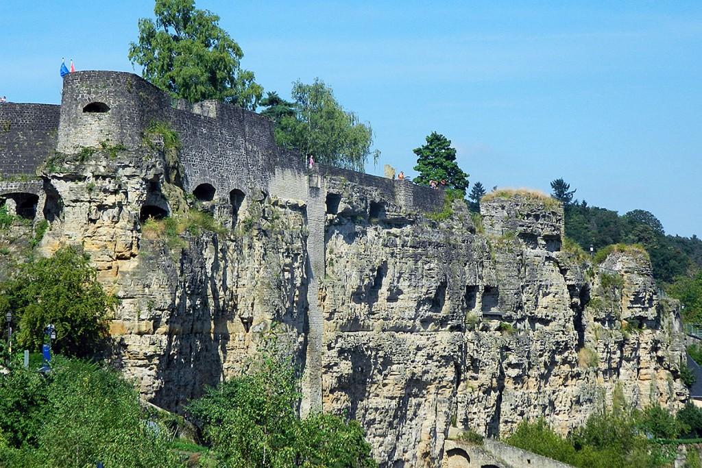 Fortaleza de Lucilinburhuc na cidade do Luxemburgo.