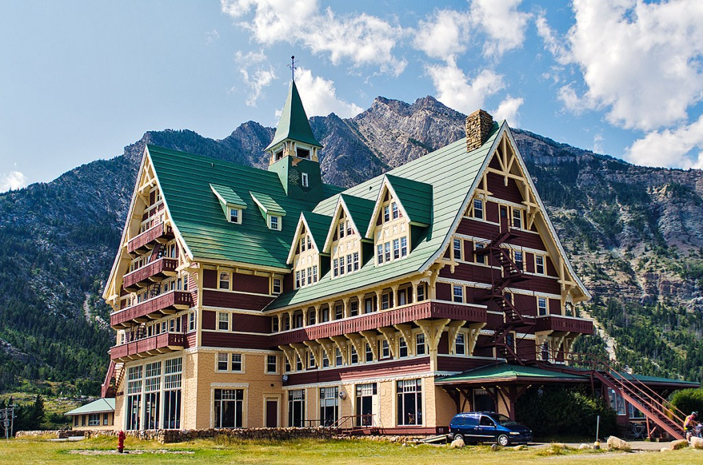 Hotel Prince of Wales no Parque Nacional de Waterton.