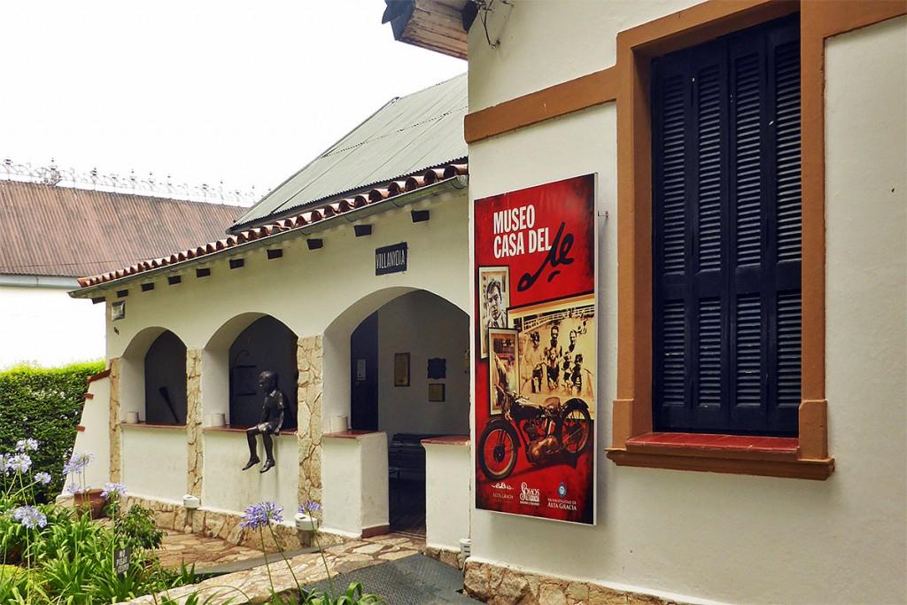 Entrada no museu Che Guevara em Alta Gracia, Argentina.
