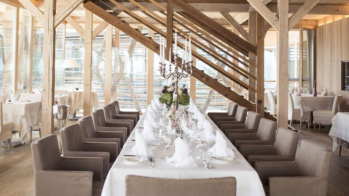 Restaurante 1500 liderado pelo chef Mauro Buffo no Vigilius Mountain Resort